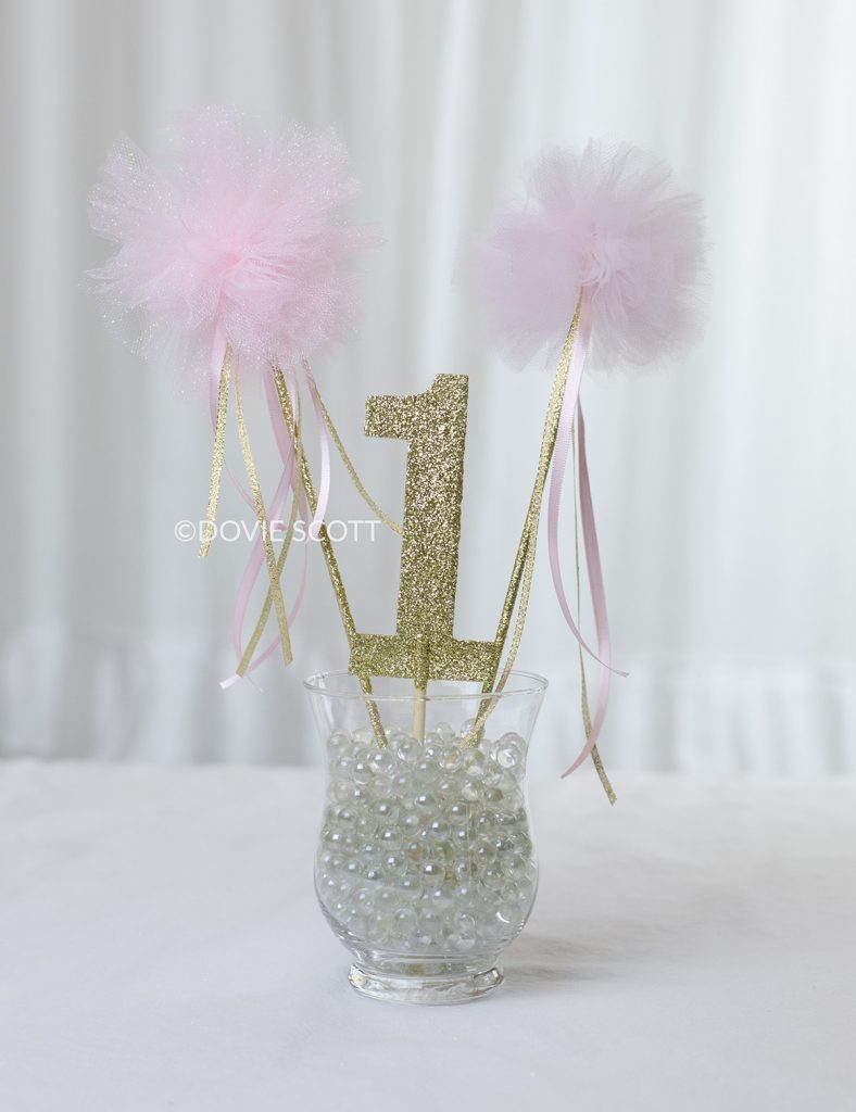 DIY Princess Wand, How to make a tulle pom pom wand