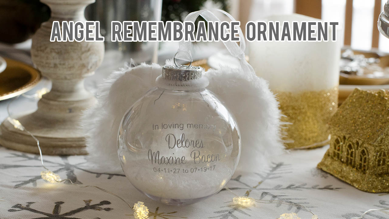 DIY Angel Remembrance Ornament, Angel Memorial Ornament