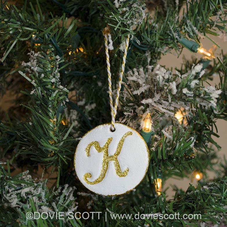 Monogram Salt Dough Ornament
