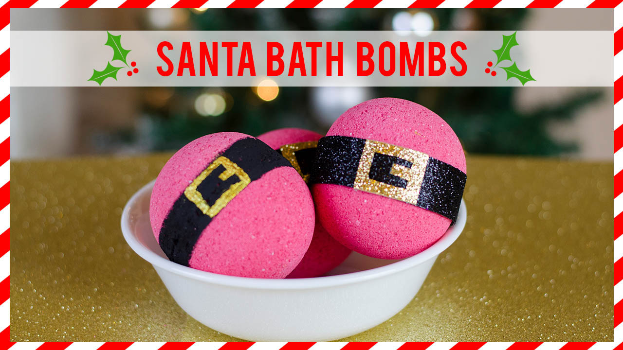 How to make Santa bath bombs