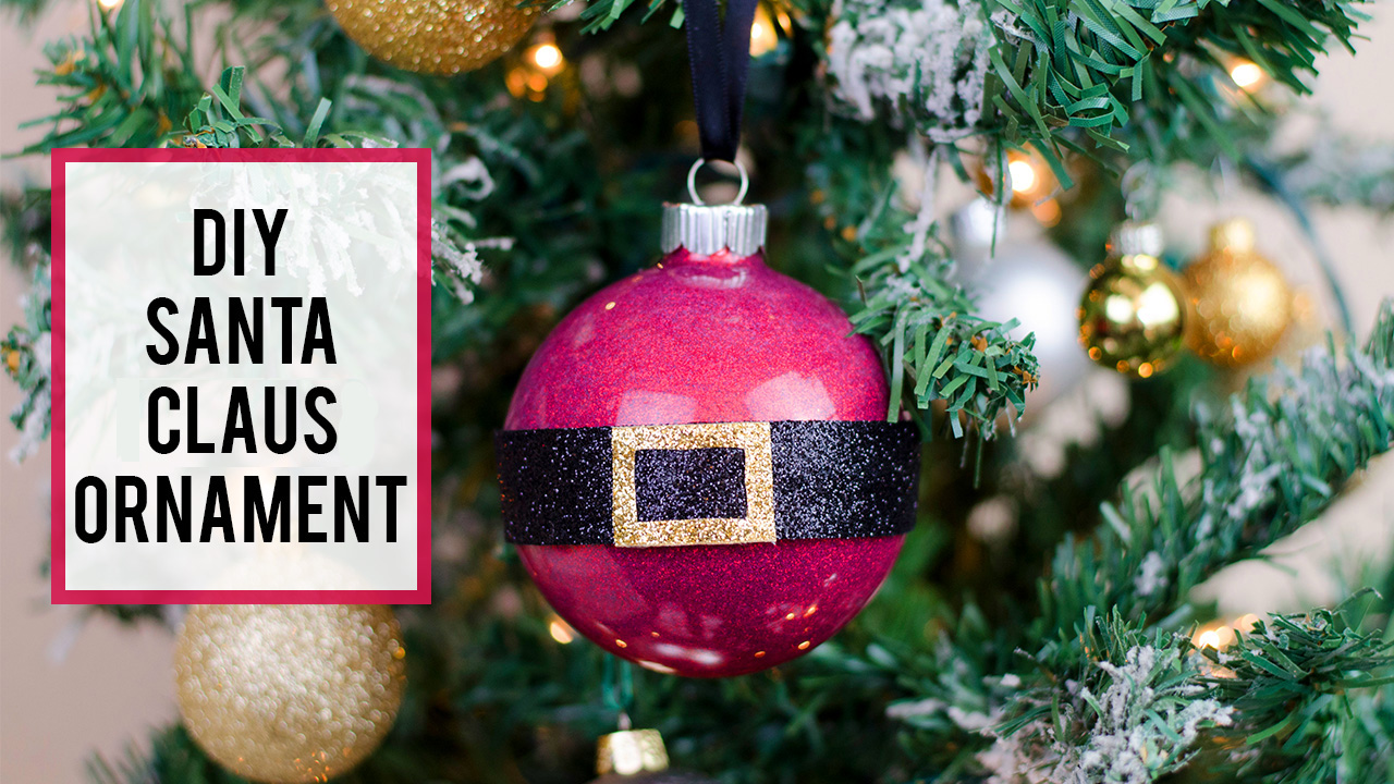 How to Make a Santa Claus Glitter Ornament