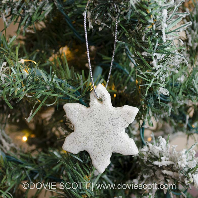 Snowflake salt dough ornament