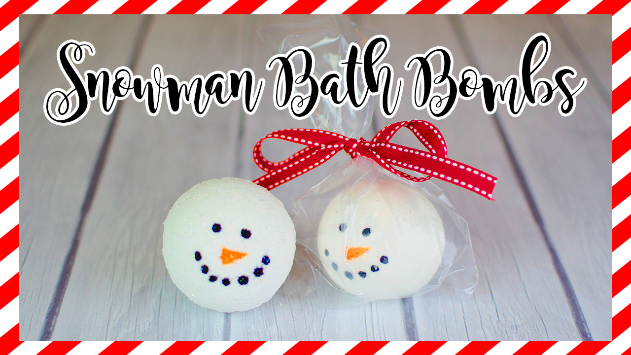 How to make snowman bath bombs
