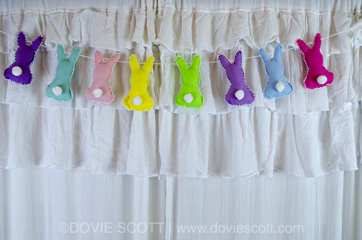 bunny banner for easter, Easter decorations, Spring Decorations