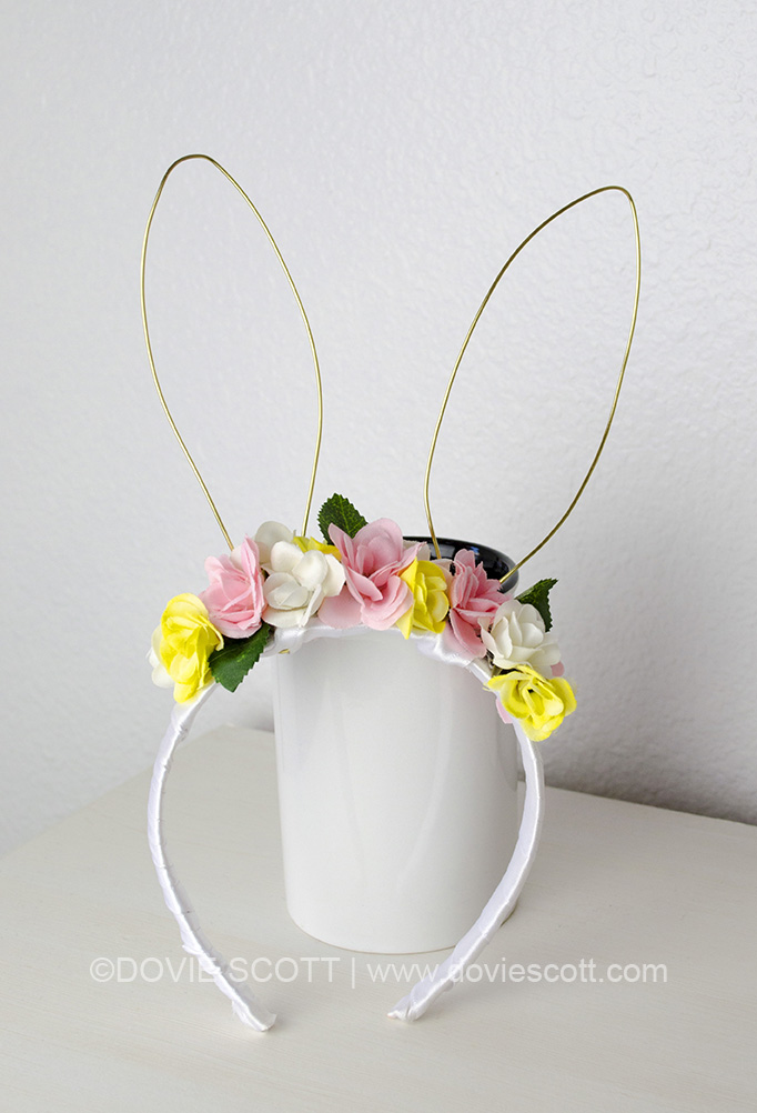 How to make a floral headband with bunny ears