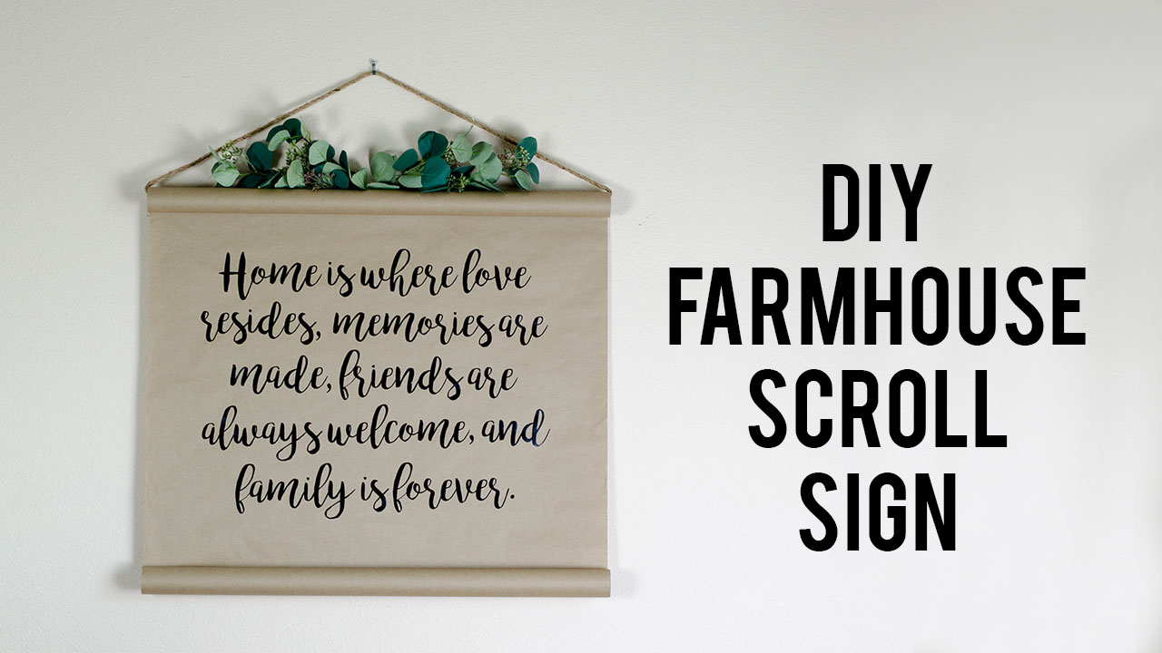DIY Farmhouse Scroll Sign