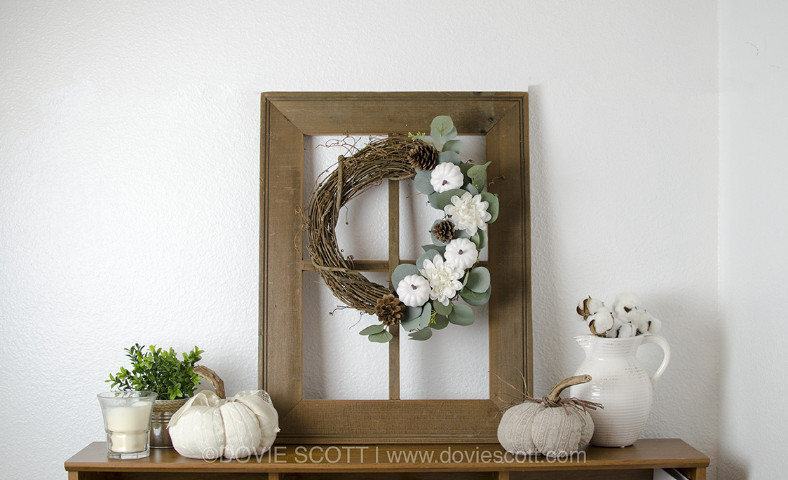 DIY Neutral Fall Wreath, Fall Wreath, Pumpkin & Ecualyptus Wreath, Pumpkin Wreath, Fall Farmhouse Wreath