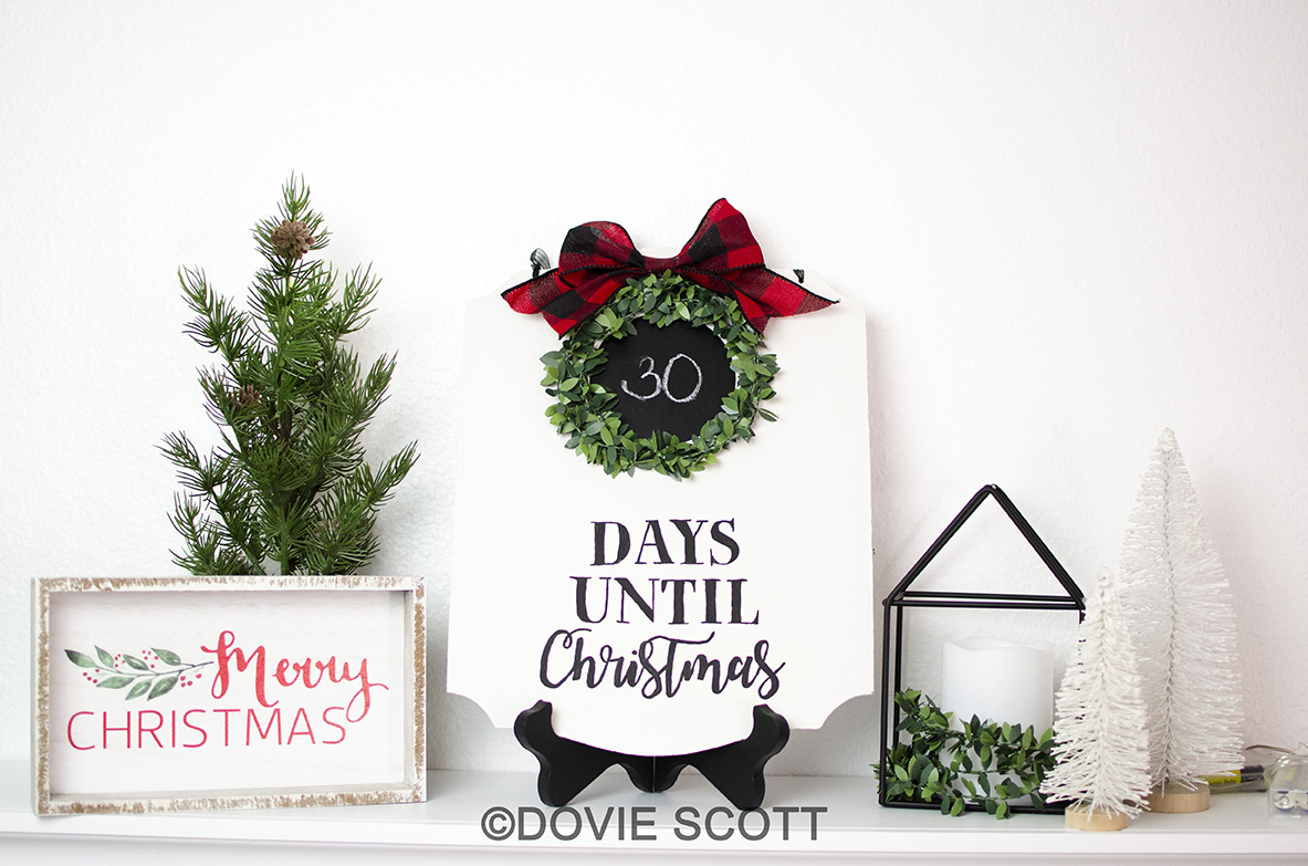 Farmhouse Christmas Countdown Sign
