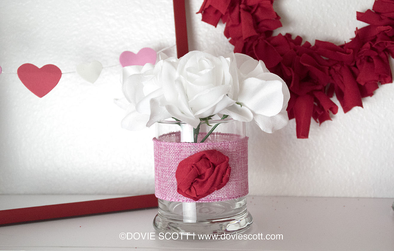 DIY Dollar Tree Valentine's Rose Arrangement