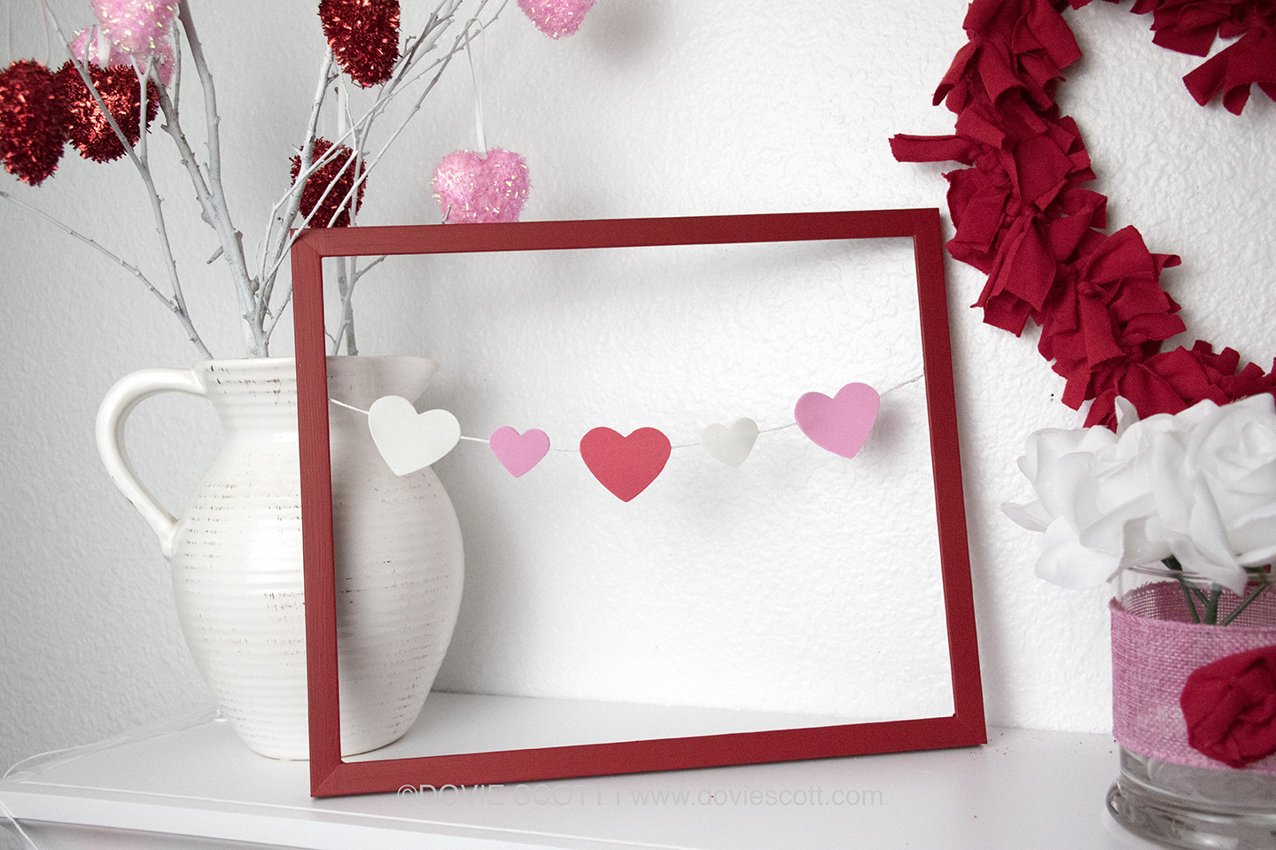 DIY Dollar Tree Valentine's Day Wall Art