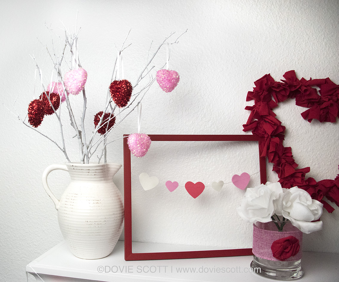 DIY Dollar Tree Valentine's Tree