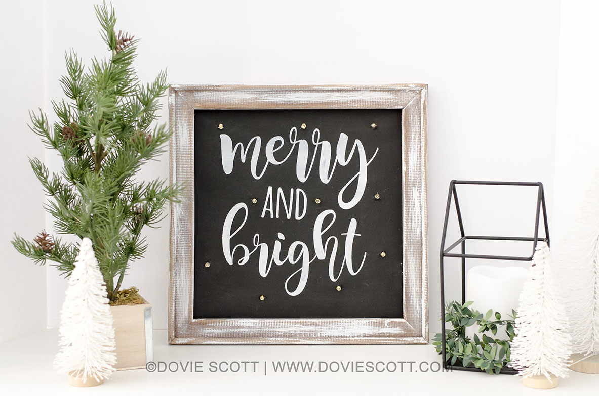 Reverse canvas Christmas sign
