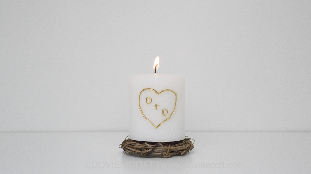 DIY Dollar Tree Carved Candle