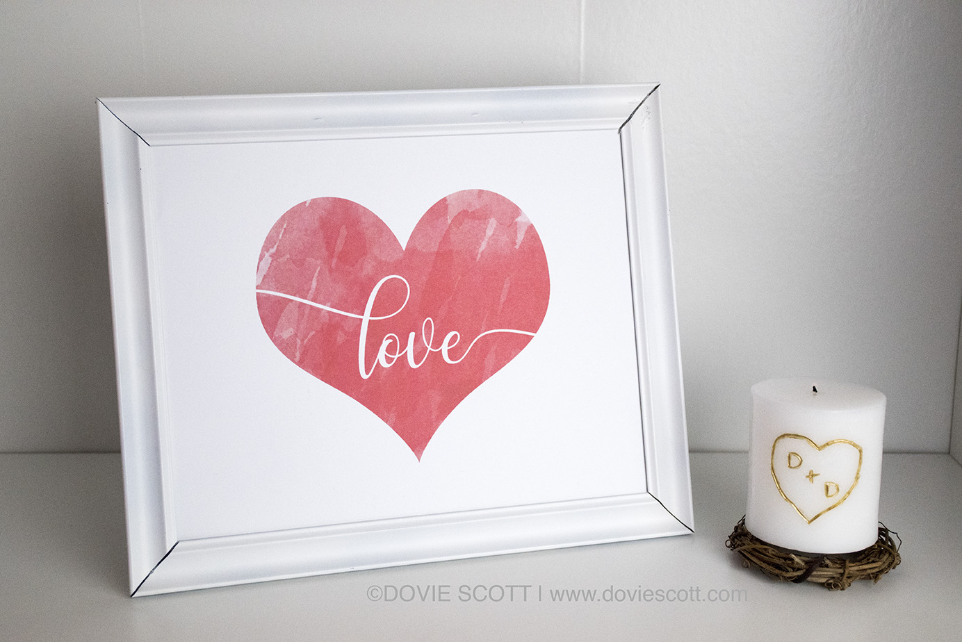 DIY Water Color Love Sign