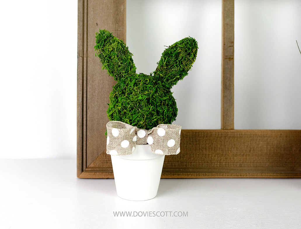 DIY Easter Bunny Topiary - DIY Dollar Tree Easter Decor