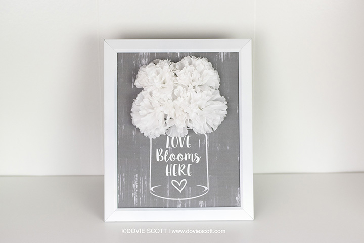 Love Blooms Here Printable, DIY Dollar Tree Spring Decor