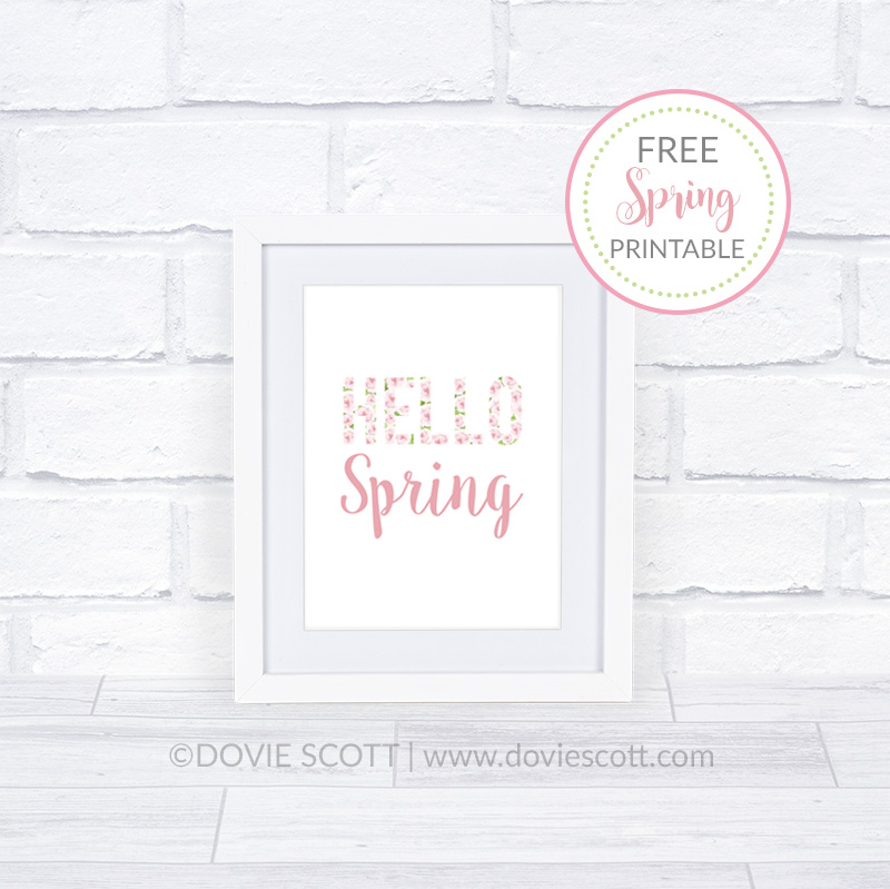 hello spring printable,free spring printable,freebies,spring decorations,spring wall art,hello spring wall art,spring decor