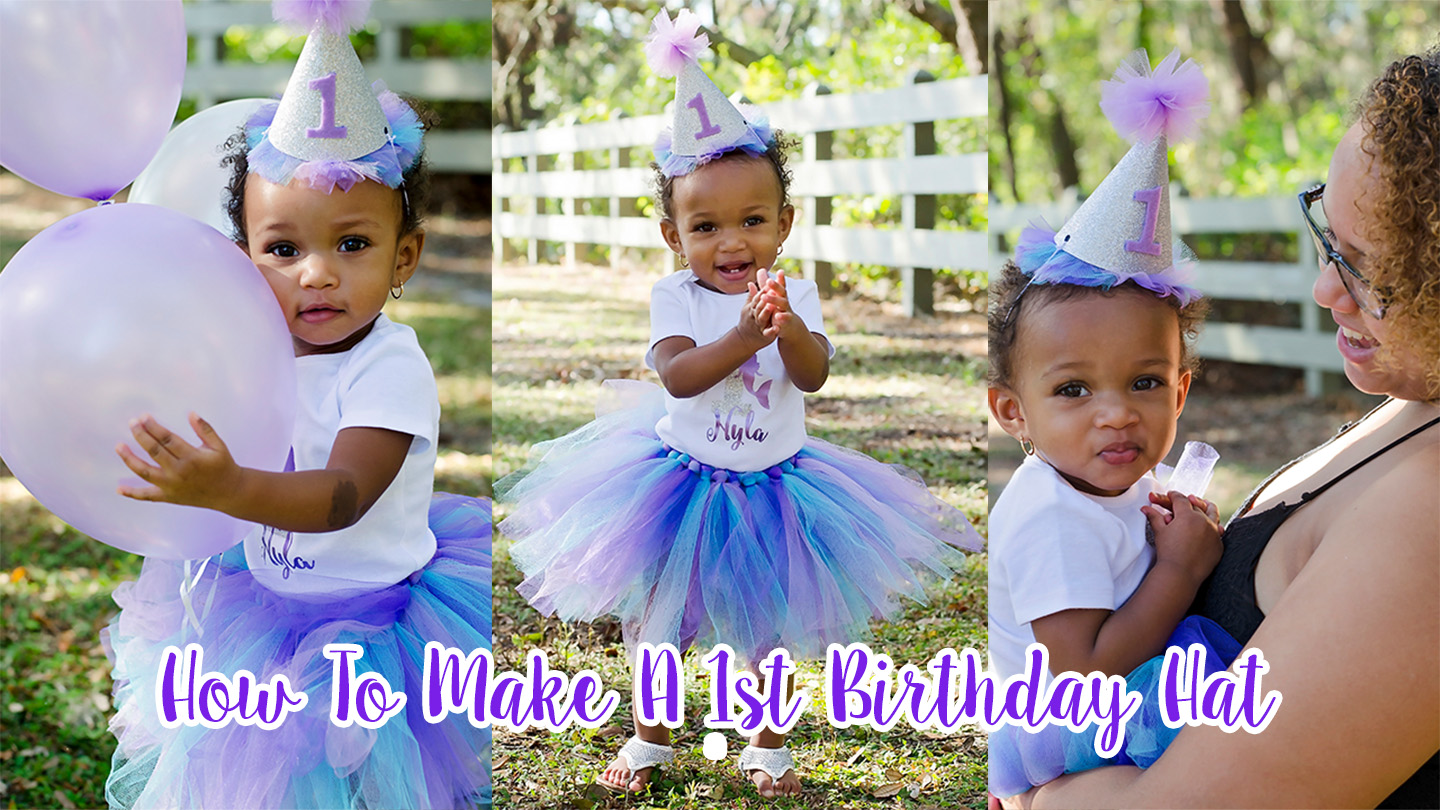 Video tutorial on how to make a first birthday hat.